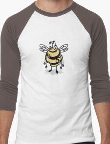 Cheesy Bee Men's Baseball ¾ T-Shirt