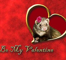 Be My Valentine Ferret by jkartlife