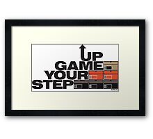 Step Your Game Up Sneakerhead by AiReal Apparel Framed Print