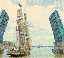 U.S. Brig Niagara - Parade of Sails by Francis LaLonde