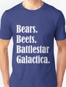 Bears Beets Battlestar Galactica Funny funny nerd geek geeky T-Shirt