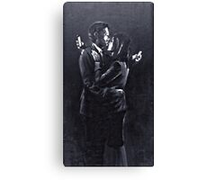 Mobile Lovers by Banksy, Bristol 2014. Canvas Print