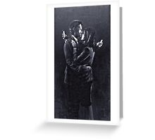 Mobile Lovers by Banksy, Bristol 2014. Greeting Card