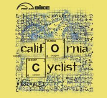 Cycling T Shirt - California Cyclist by ProAmBike