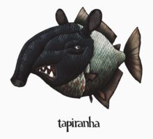 Tapiranha Illustration Baby Tee
