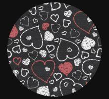 Chalk hearts pattern Kids Tee