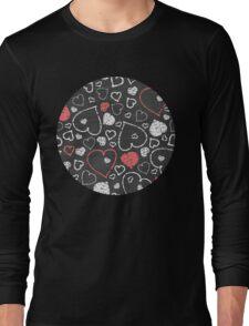 Chalk hearts pattern Long Sleeve T-Shirt