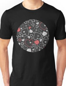 Chalk hearts pattern Unisex T-Shirt