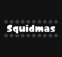 Squidmas / Christmas Splatoon squid pattern from Nintendo Kids Tee