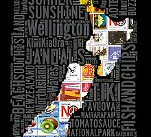 New Zealand NZ Aotearoa Stamp by STUDIO 88 STRATFORD TARANAKI NZ