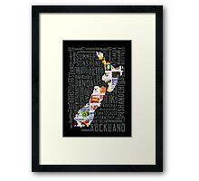 New Zealand NZ Aotearoa Stamp Framed Print