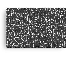 Chalkboard alphabet letters pattern Canvas Print