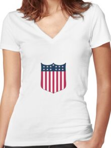 Jim Thorpe 1912 Olympics Tee Women's Fitted V-Neck T-Shirt