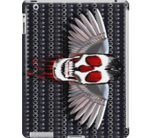 Skull with chromed wings on leather iPad Case/Skin