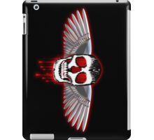 Bloody skull with chromed wings illustration iPad Case/Skin