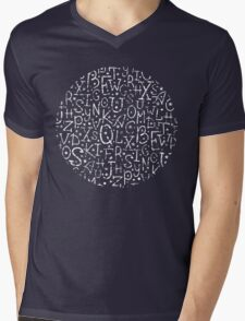 Chalkboard alphabet letters pattern Mens V-Neck T-Shirt