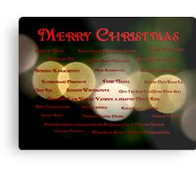 I Want to Wish You A Merry Christmas Metal Print