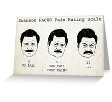Swanson FACE Pain Rating Scale Greeting Card