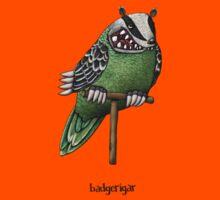 Badgerigar on Stand Illustration Kids Tee