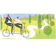 Ride a Tandem Bike Photographic Print