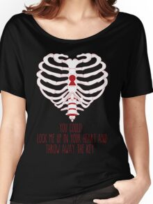 Bring Me The Horizon Rib Heart Red Women's Relaxed Fit T-Shirt