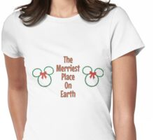 Merriest Place On Earth. Womens Fitted T-Shirt