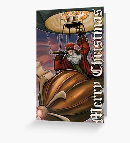 Steampunk Santa Claus Greeting Card