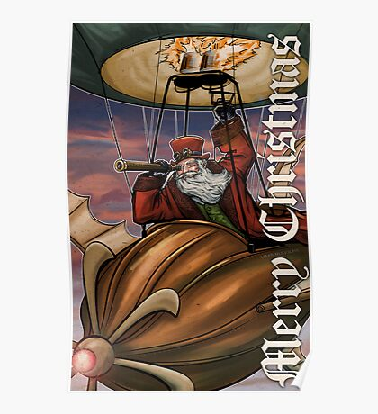 Steampunk Santa Claus Poster