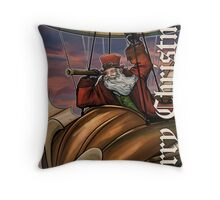 Steampunk Santa Claus Throw Pillow
