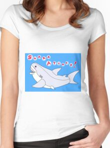 Shark Attack!  Freezepop Inspired Women's Fitted Scoop T-Shirt