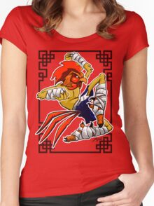 Muay Thai Rooster Women's Fitted Scoop T-Shirt