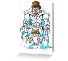 The Abominable Snowman  Greeting Card