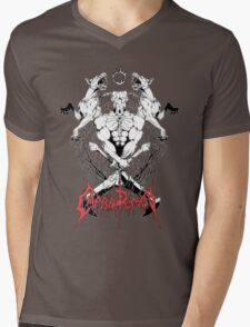 CAPRA DEMON Mens V-Neck T-Shirt
