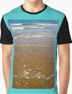 Waves Breaking on a Sandy Beach Graphic T-Shirt