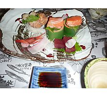 One of many courses. Dinner at Jozankei, Hokkaido Photographic Print