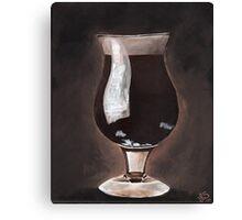 Dark Beer in Tulip Glass Porter Stout Canvas Print