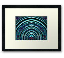 Blue Steel Shield Framed Print
