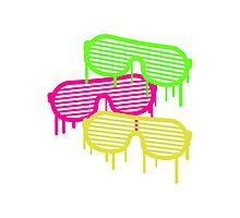 Graffiti Party Glasses Photographic Print
