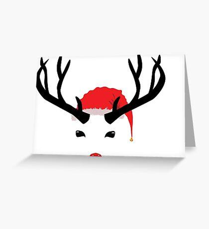 Cristmas reindeer Greeting Card