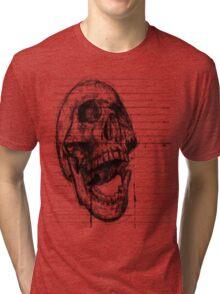 Skull on notebooke paper Tri-blend T-Shirt