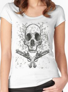 Skull and Pistols Women's Fitted Scoop T-Shirt