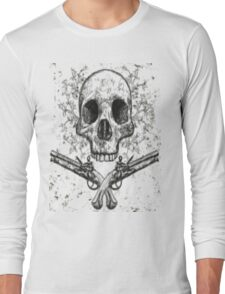 Skull and Pistols Long Sleeve T-Shirt