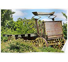 Old Time Wagon Poster