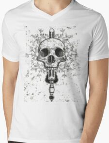Skull and dagger Mens V-Neck T-Shirt