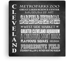 Cleveland Ohio Famous Landmarks Canvas Print