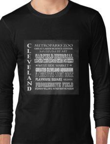 Cleveland Ohio Famous Landmarks Long Sleeve T-Shirt