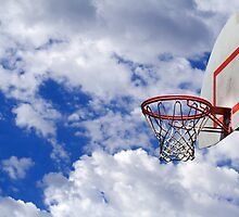 Basketball hoop in the sky by creativedesignz
