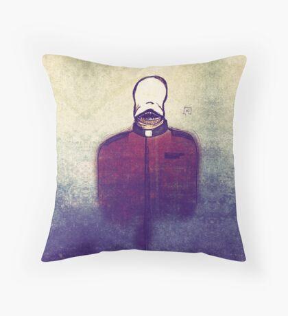The demon of the undead preacher Throw Pillow