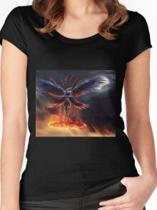 The Summoning of Bahamut - With Background! Women's Fitted Scoop T-Shirt