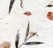 Homemade paper with leaves and flower petals by creativedesignz
